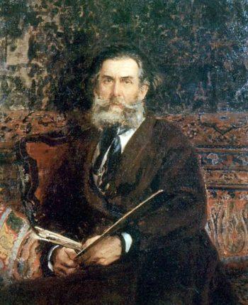 Portrait of the Artist AP Bogolubov | Ilia Efimovich Repin | oil painting