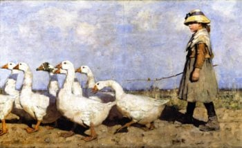 To Pastures New | James Guthrie | oil painting