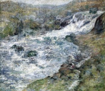 The Torrent | John Twachtman | oil painting