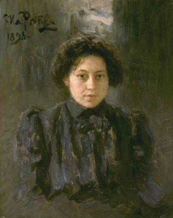 Portrait of the artists daughter Nadezhda | Ilia Efimovich Repin | oil painting