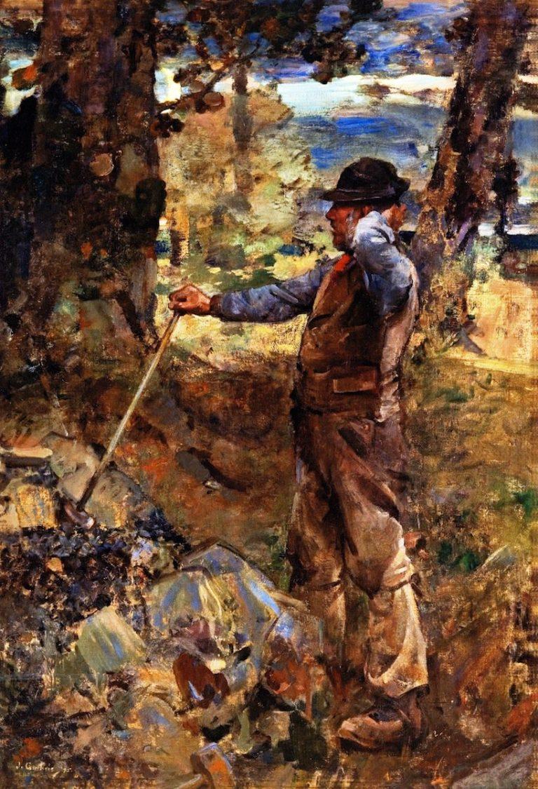 The Stonebreaker   James Guthrie   oil painting