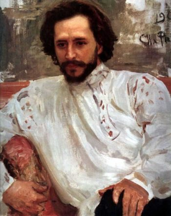 Portrait of the Author Leonid Andreev | Ilia Efimovich Repin | oil painting