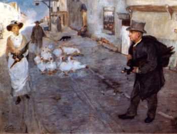 The Pedlar | James Guthrie | oil painting