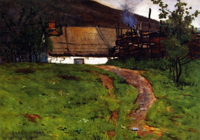 The Cottage on the Hill | James Guthrie | oil painting