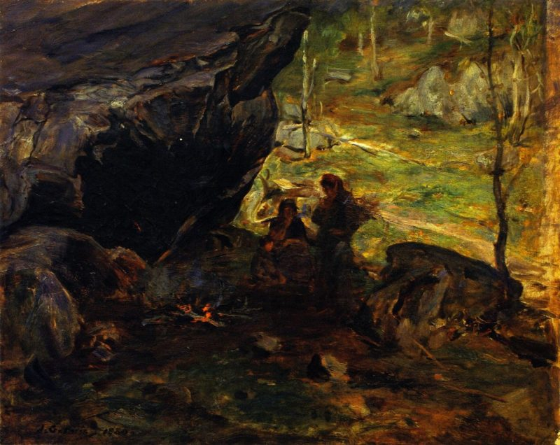 The Camp in the Woods | James Guthrie | oil painting