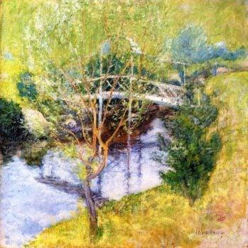 The White Bridge | John Twachtman | oil painting