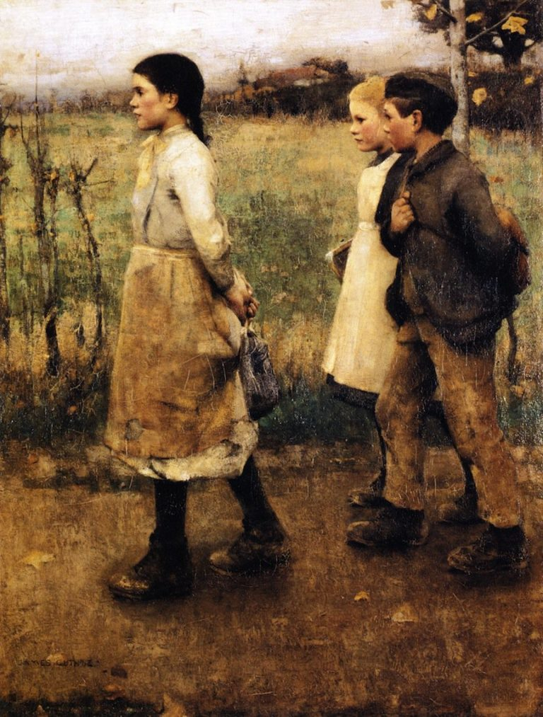 Schoolmates | James Guthrie | oil painting