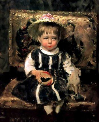 Portrait of Vera Repina | Ilia Efimovich Repin | oil painting
