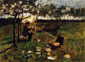 Poppleton The Artist at Work | James Guthrie | oil painting