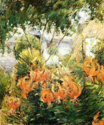 Tiger Lilies 2 | John Twachtman | oil painting