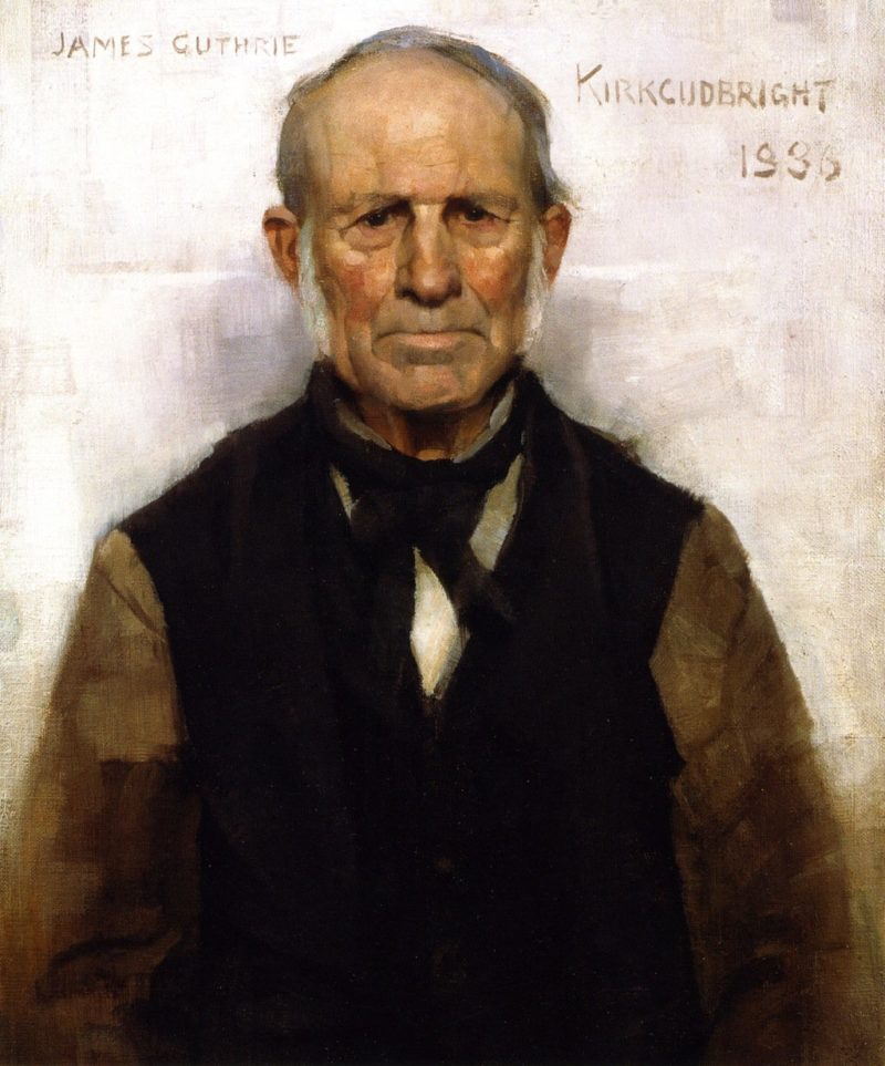 Old Willie A Village Worthy | James Guthrie | oil painting