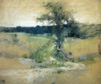 Tree by a Road | John Twachtman | oil painting