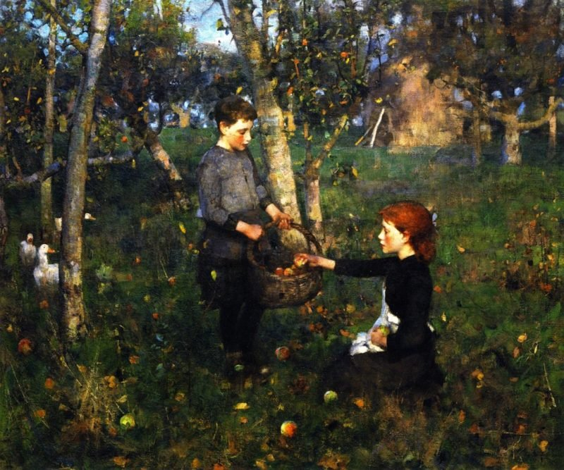In the Orchard | James Guthrie | oil painting