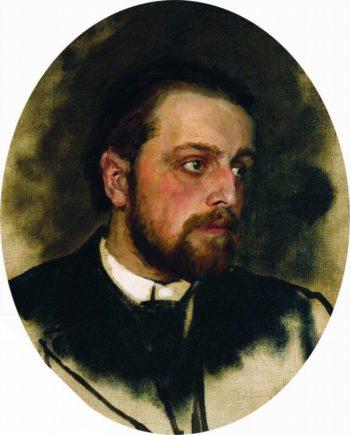 Portrait of writer Vladimir Grigorievich Chertkov | Ilia Efimovich Repin | oil painting