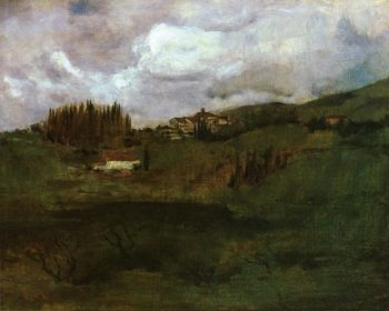 Tuscan Landscape | John Twachtman | oil painting
