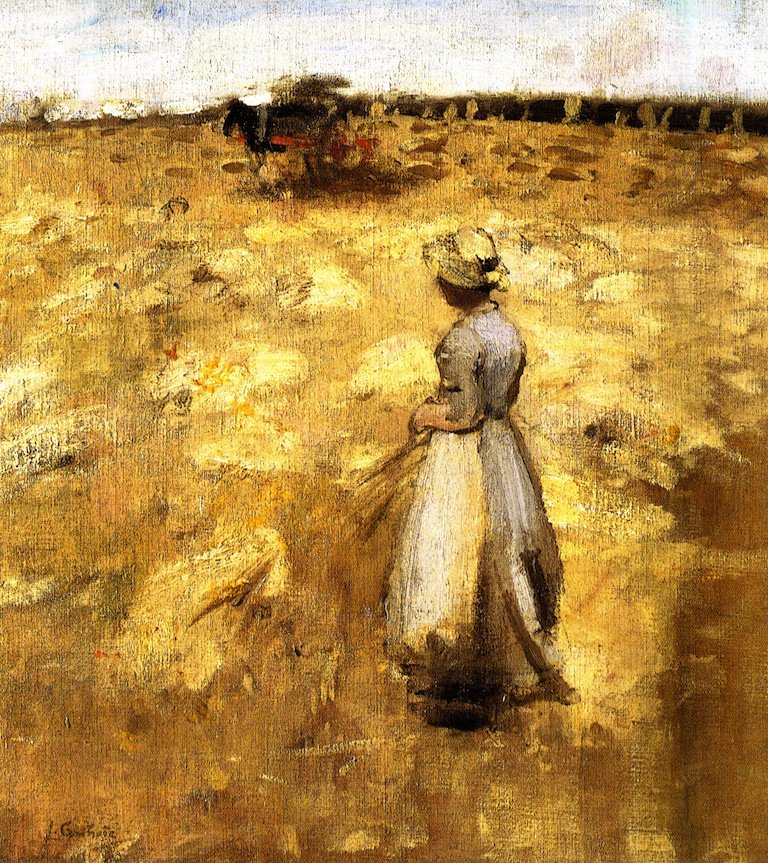 Field Work in the Lothians | James Guthrie | oil painting