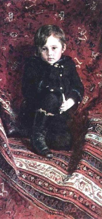 Portrait of Yuria Repina the Artists son | Ilia Efimovich Repin | oil painting