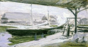 Under the Wharves | John Twachtman | oil painting