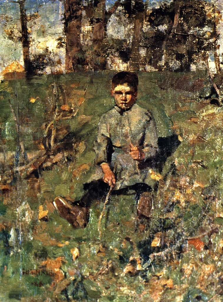 Boy with a Straw | James Guthrie | oil painting