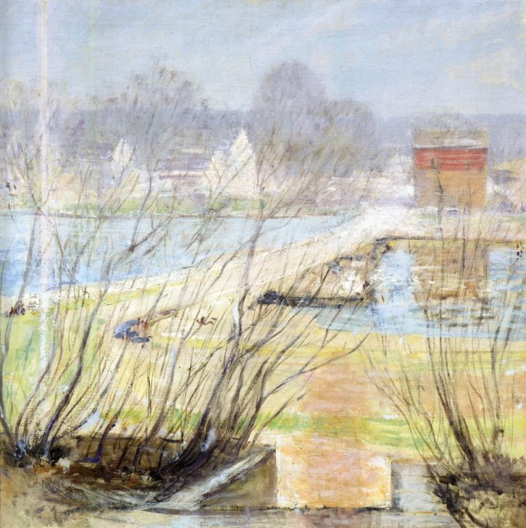View from the Holley House Cos Cob Connecticut 1   John Twachtman   oil painting