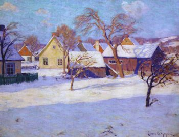 Winter Village of Baie Saint Paul | Clarence Gagnon | oil painting
