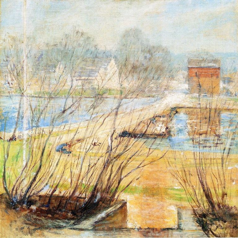 View from the Holley House Cos Cob Connecticut | John Twachtman | oil painting