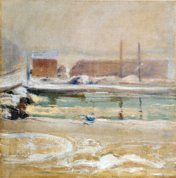 View from the Holley House Winter | John Twachtman | oil painting