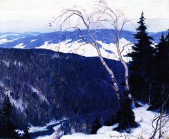 Winter Solitude | Clarence Gagnon | oil painting