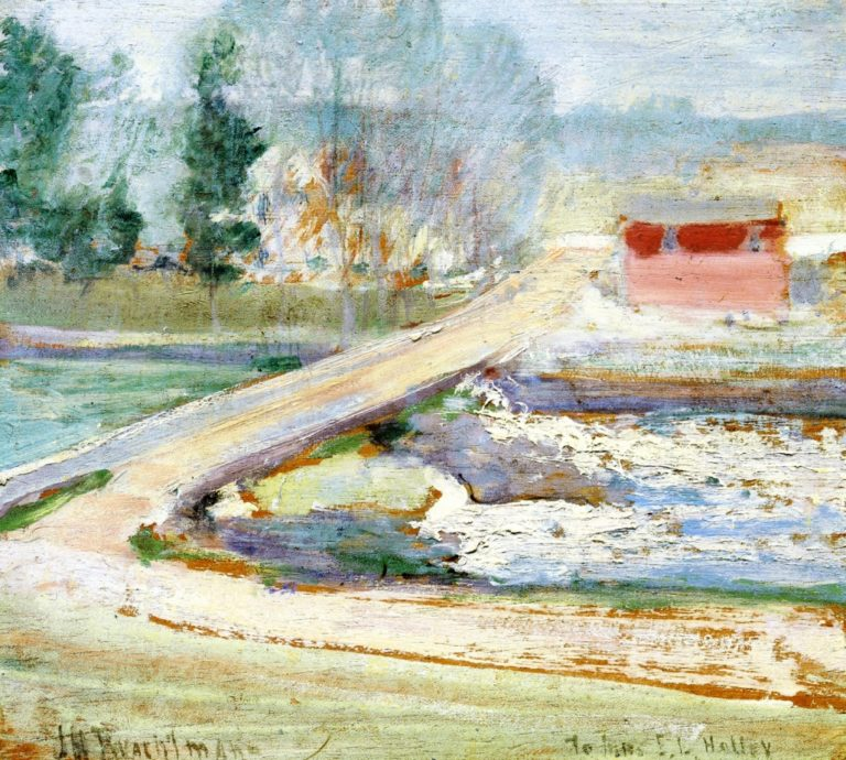 View from the Holley House | John Twachtman | oil painting