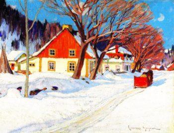 Winter Landscape Baie Saint Paul | Clarence Gagnon | oil painting