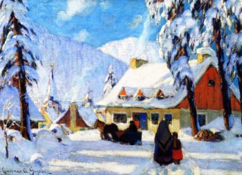 Winter in the Laurentians Quebec | Clarence Gagnon | oil painting