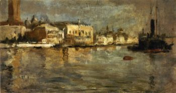 View of Venice 1 | John Twachtman | oil painting