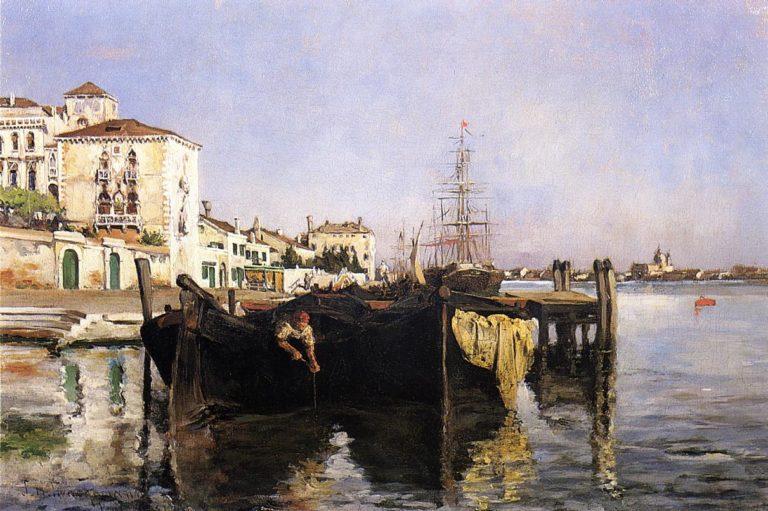 View of Venice | John Twachtman | oil painting