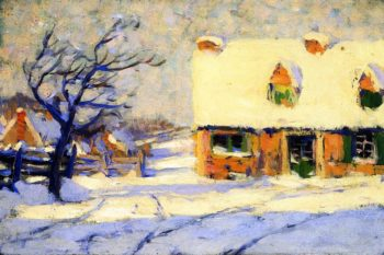 Village Street | Clarence Gagnon | oil painting