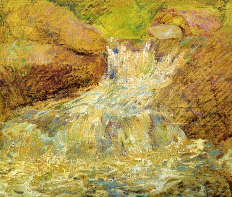Waterfall Greenwich   John Twachtman   oil painting