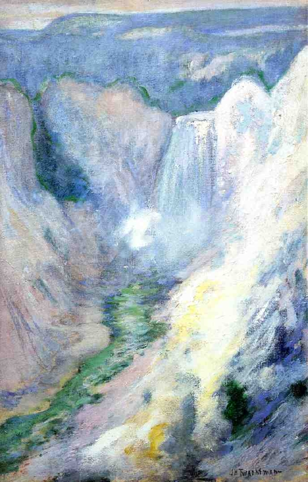 Waterfall in Yellowstone | John Twachtman | oil painting