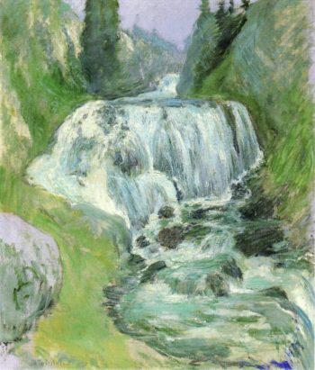 Waterfall | John Twachtman | oil painting