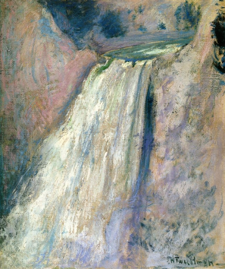 Waterfall Yellowstone | John Twachtman | oil painting
