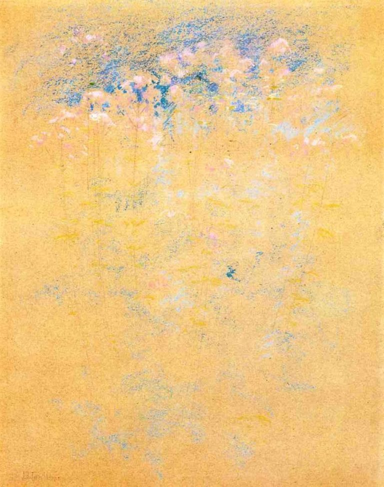 Weeds and Flowers | John Twachtman | oil painting