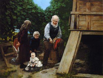 Grandfather's Pleasure | Louis C Moeller | oil painting
