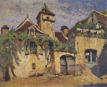Maisons dans le village | Henri Martin | oil painting