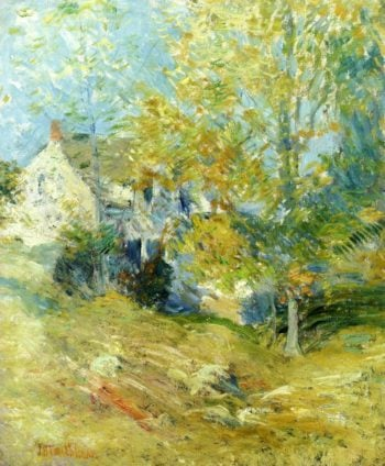 The Artist's House through the Trees | John Twachtman | oil painting
