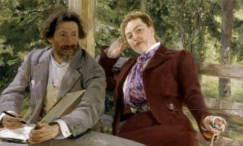 Double Portrait of Natalia Nordmann and Ilya Repin | Ilia Efimovich Repin | oil painting