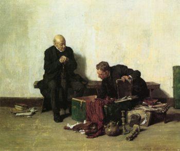Scouting the Trunk   Louis C Moeller   oil painting