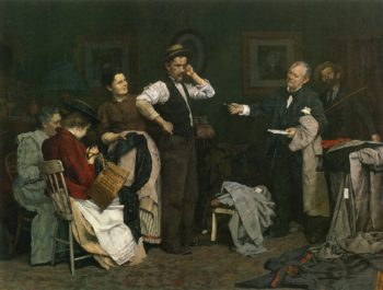 Sign Here | Louis C Moeller | oil painting