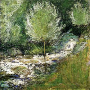 The Brook Greenwich Connecticut | John Twachtman | oil painting