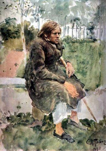 Hunchback   Ilia Efimovich Repin   oil painting