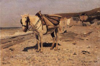 Horse | Ilia Efimovich Repin | oil painting
