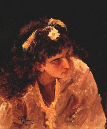 Head of woman | Ilia Efimovich Repin | oil painting