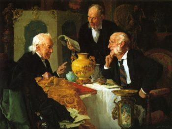 The Antique Dealer | Louis C Moeller | oil painting